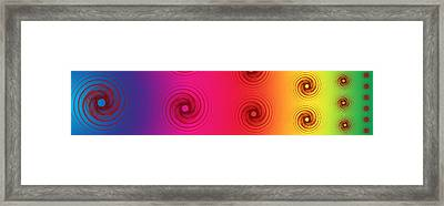 Color Chart One Framed Print by Betsy Knapp