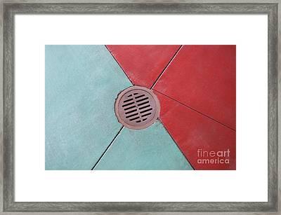 Color Drain Framed Print by Dan Holm