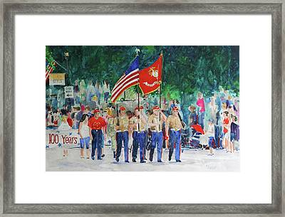 Color Guard Framed Print by William Tockes