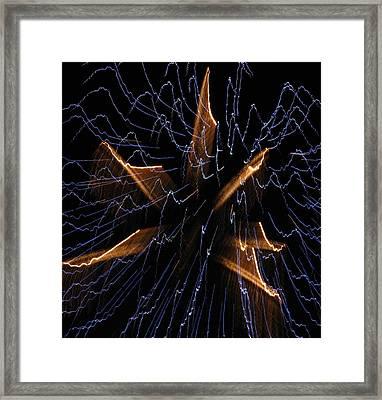 Color Me Electric Framed Print by Rhonda Barrett
