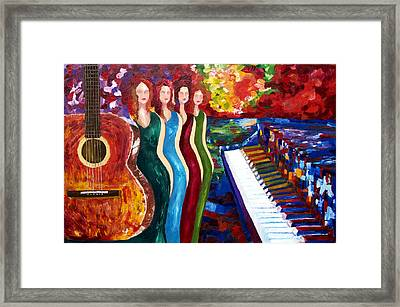 Color Of Music Framed Print by Yelena Rubin