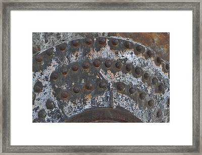 Color Of Steel 7a Framed Print by Fran Riley