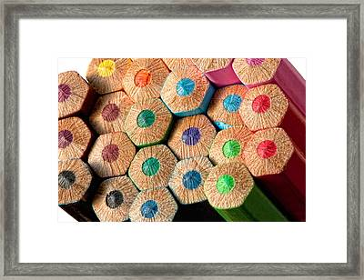 Color Pencils Framed Print by Ralucahphotography.ro
