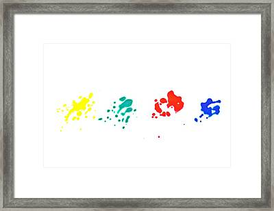 Color Splash Framed Print by Joana Kruse