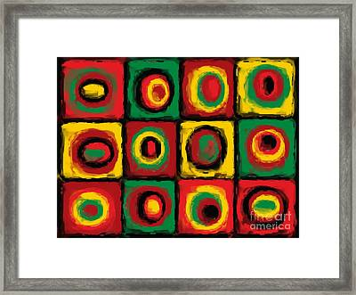 Color Study Of Caribbean Flowers Framed Print by Pet Serrano