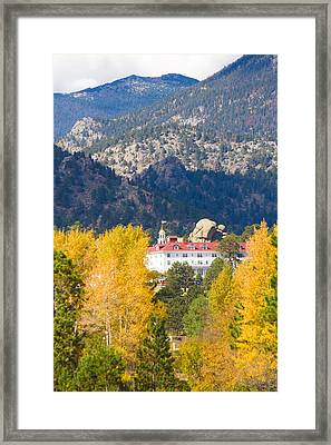 Colorado Estes Park Stanly Hotel Autumn View Framed Print by James BO  Insogna