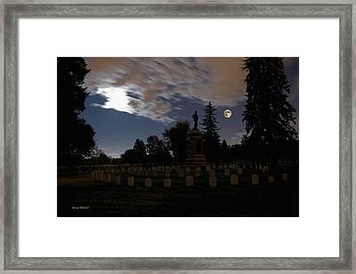 Colorado Volunteers Under The Full Moon Framed Print by Stephen  Johnson