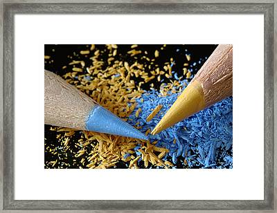 Colored Pencils Framed Print by Frank Tschakert