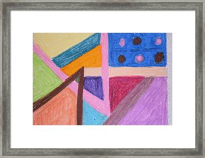 Colorful Angles Framed Print by Genoa Chanel