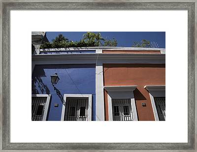 Colorful Architecture In Old San Juan Framed Print by Scott S. Warren