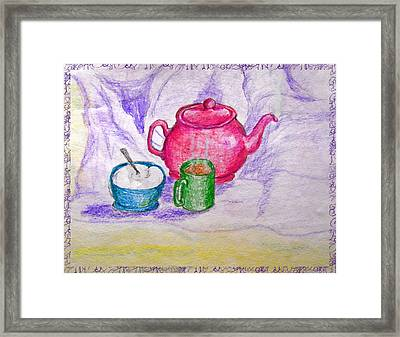 Colorful Coffee Framed Print by Debbie Portwood