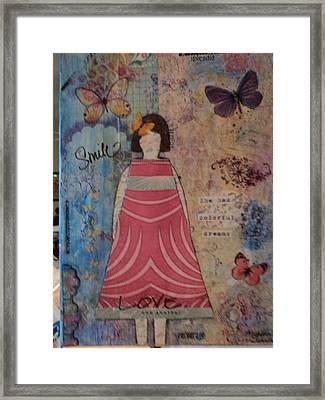 Colorful Dreams  Framed Print by Anne-Elizabeth Whiteway