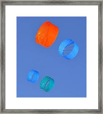 Colorful Kites Framed Print by David Lee Thompson