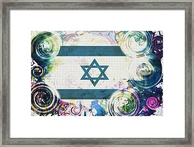 Colorful Land Of Israel Framed Print by Jenn Bodro