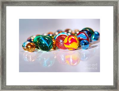 Colorful Marbles Framed Print by Carlos Caetano