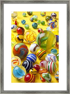 Colorful Marbles Framed Print by Garry Gay