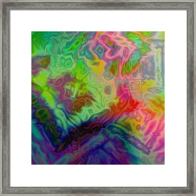 Colorful Noise Framed Print by Jimi Bush