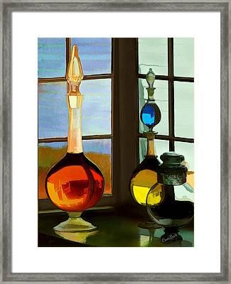 Colorful Old Bottles Framed Print by Suni Roveto