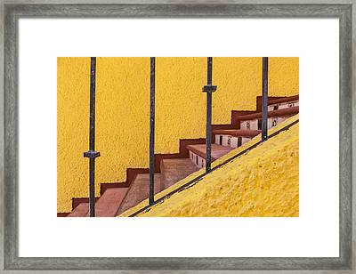 Colorful Stairway In Mexico Market 28 Framed Print by Bryan Mullennix