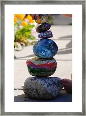 Colorful Zen II Framed Print by Evelina Popilian