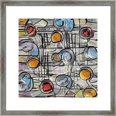 Colors Fighting To Get Out Framed Print by Alec Drake