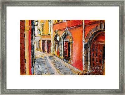 Colors Of Lyon 4 Framed Print by Mona Edulesco