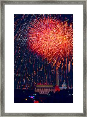 Colors Over The Capital Framed Print by David Hahn