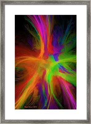 Colour Explosion Framed Print by Wayne Bonney