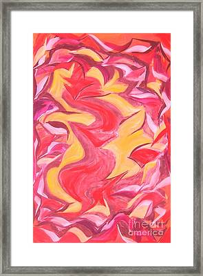 Colour Me Pink Yellow 'n Red Framed Print by Rachel Carmichael