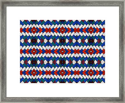Colourful Tile Symmetry Framed Print by Hakon Soreide