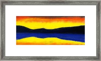 Colours Of Sky Framed Print by Hakon Soreide
