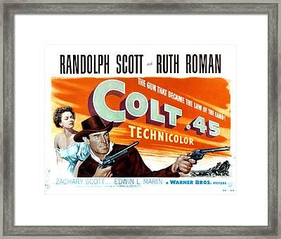 Colt .45, Ruth Roman, Randolph Scott Framed Print by Everett