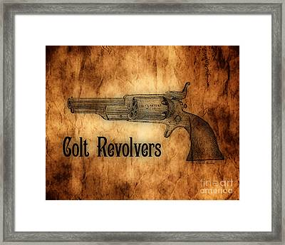 Colt Revolvers Framed Print by Cheryl Young