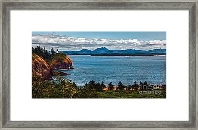 Columbia River Mouth Framed Print by Robert Bales