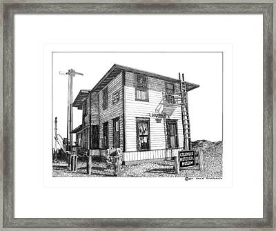 Columbus New Mexico  Framed Print by Jack Pumphrey