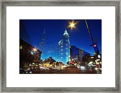 Columbus Street Framed Print by Phoenix Wang