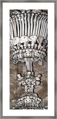 Column From Human Bones And Sku Framed Print by Michal Boubin