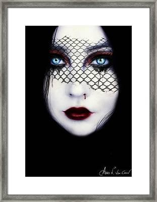 Coma White Framed Print by Adro Von Crow
