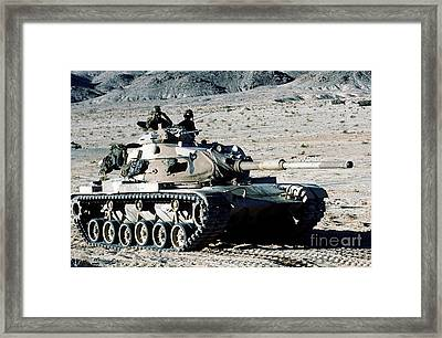 Combat Ready Marines Approach An Enemy Framed Print by Stocktrek Images