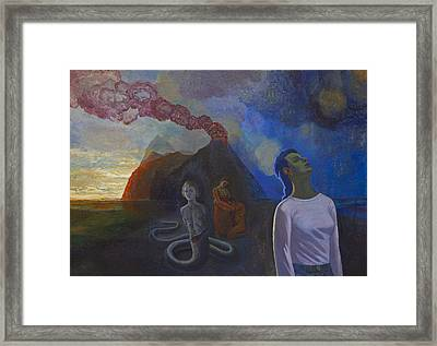 Comes The Storm Framed Print by Fernando Alvarez