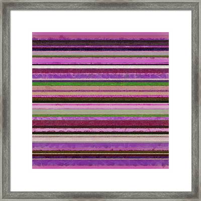 Comfortable Stripes Lll Framed Print by Michelle Calkins