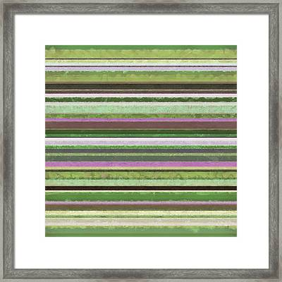 Comfortable Stripes Lv Framed Print by Michelle Calkins