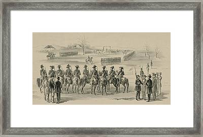Commemorative Print Depicting Execution Framed Print by Everett