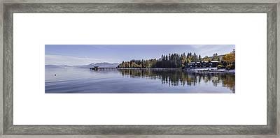 Commons Beach Lake Tahoe Framed Print by Brad Scott