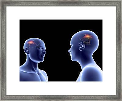 Communication, Conceptual Artwork Framed Print by Pasieka