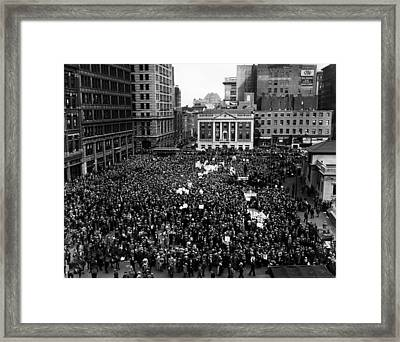Communists Rally In Union Square, New Framed Print by Everett