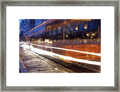 Commuter Bus Framed Print by A A
