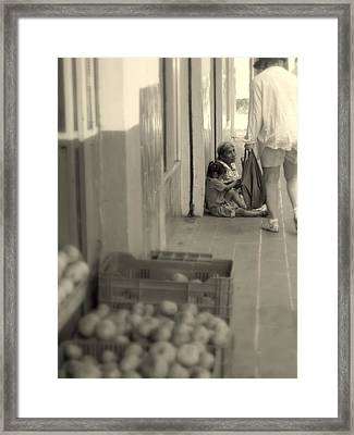Compassion For The Poor Framed Print by Cindy Wright