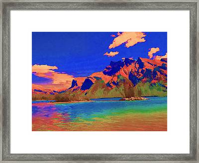 Complementary Mountains Framed Print by Jo-Anne Gazo-McKim
