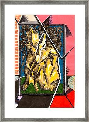 Composition Eight Framed Print by Al Goldfarb